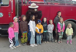 Smokey The Bear at Oregon Dunes KOA
